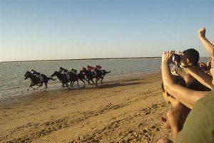 Playa de las Piletas, Sanlúcar de Barrameda, Cádiz, carrera de caballos