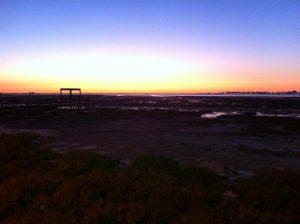 Puesta de sol en Parque Natural Bahía de Cádiz Foto: David Ibáñez Montañez