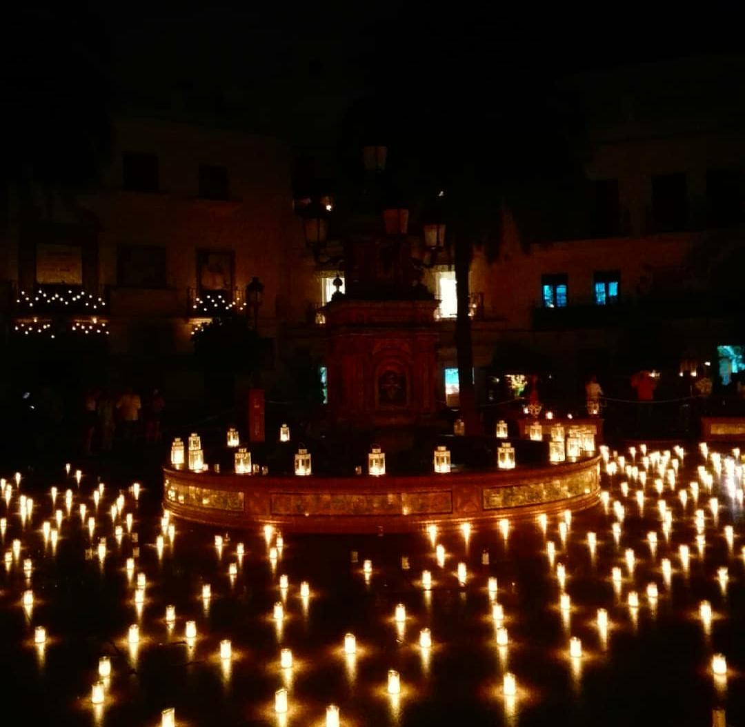 Plaza del Pescaíto en la Noche de las Velas Vejer